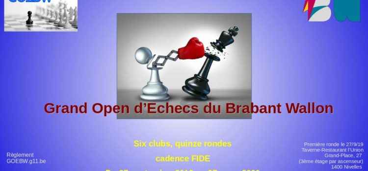 Grand Open des Echecs du Brabant wallon